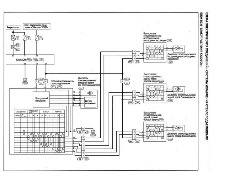 Кто хочет поставить себе доводчик стекол Mongoose PWM-4.  Ниже представлена принципиальная схема.  Автозапчасти.